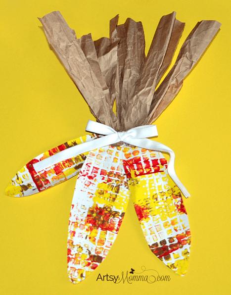 Kids indian corn craft