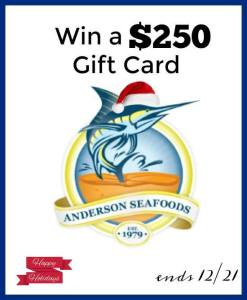 Holiday Entertaining with Anderson Seafoods + $250 Gift Card Giveaway