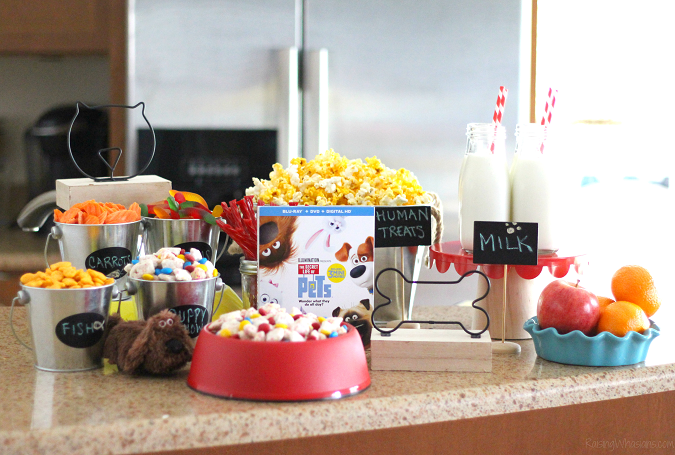 Secret life of pets party The Secret Life of Pets Puppy Chow & Family Movie Night Ideas   Make an easy The Secret Life of Pets inspired snack + ideas for a pet inspired movie party #PartyPlanning #Recipe