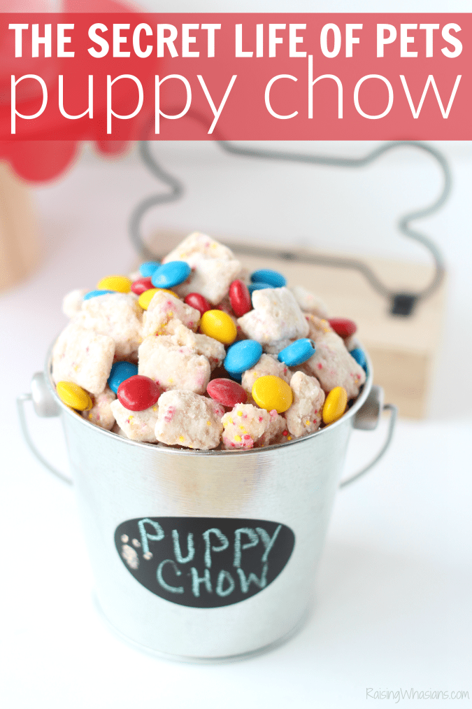 The secret life of pets puppy chow family movie night ideas The Secret Life of Pets Puppy Chow & Family Movie Night Ideas   Make an easy The Secret Life of Pets inspired snack + ideas for a pet inspired movie party #PartyPlanning #Recipe