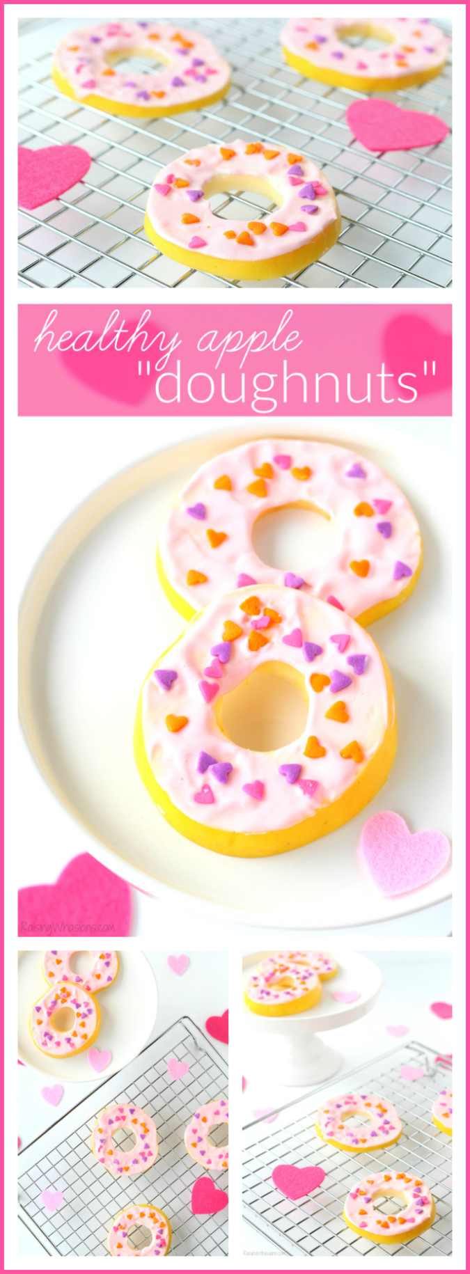 Healthy apple doughnuts Valentine's day pinterest