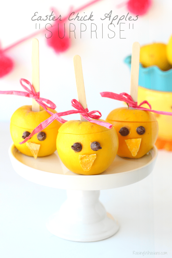Easter chick apples