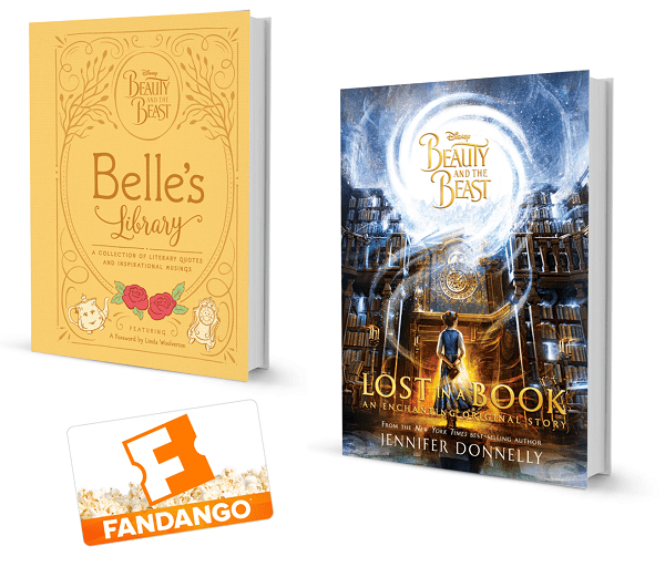 Beauty and the beast book prize pack