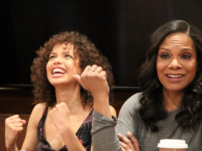 Gugu Mbatha-Raw Audra McDonald interview beauty and the beast