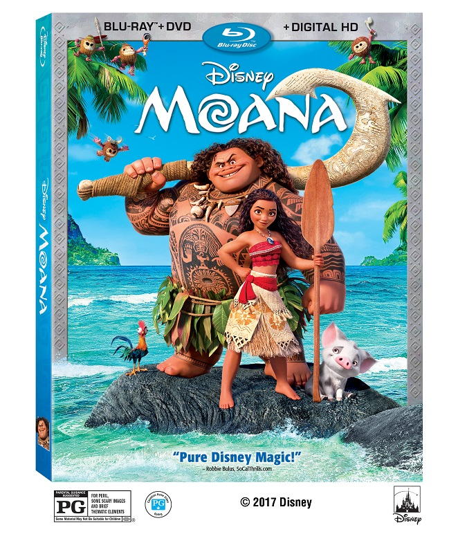 Moana blu-ray release bonus features