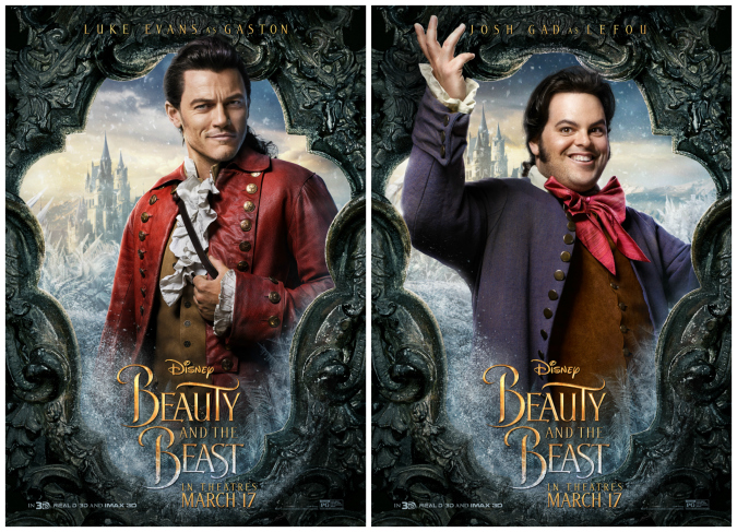 Gaston interview Luke Evans Josh Gad