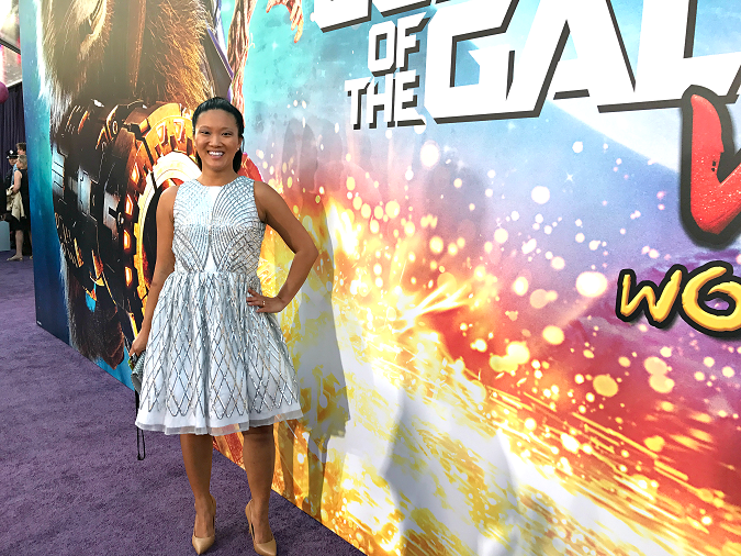 Guardians of the galaxy red carpet dress