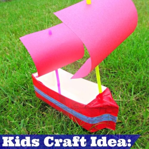 kids craft milk carton boat