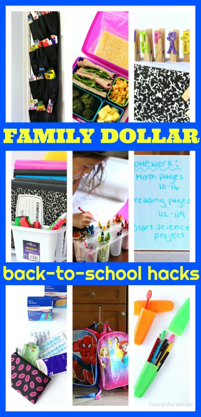 Family dollar back to school hacks