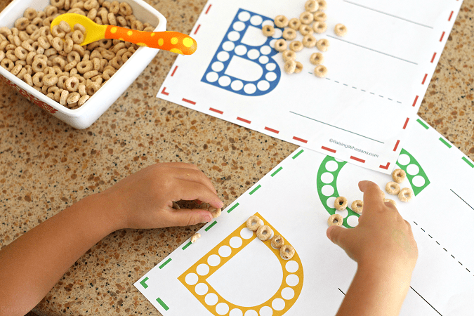 Free do a dot abc worksheets Help your child master Pre-K with these FREE Printable ABC Worksheets for Preschoolers. Learning the ABCs is much more fun with Do a Dot Cheerios - Hands-on learning for preschoolers with this kids activity - Don't miss this learning activity for preschoolers to learn their letters. Amazing early reading skill development - #KidsActivities #FreePrintable #homeschool #Preschool #EarlyLearning
