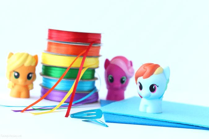 DIY my little pony hair bow