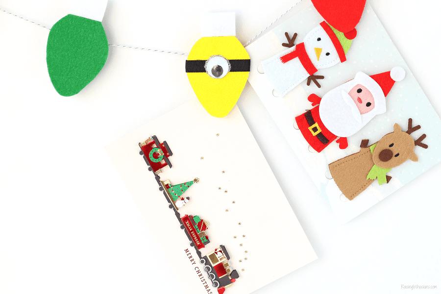 Minions Christmas card display