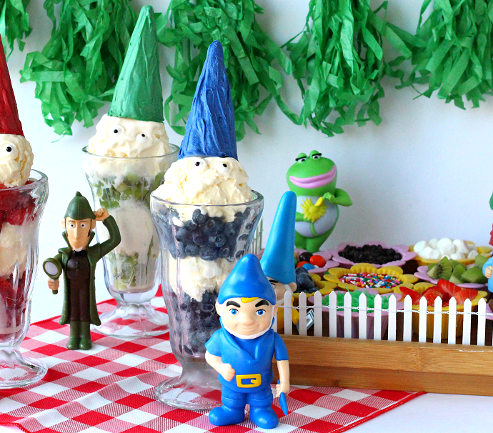 Sherlock gnomes ice cream party ideas