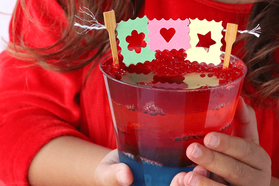 Easy Disney Pixar Coco Dessert Idea | Celebrate Disney•Pixar's Coco at home Blu-Ray release with these fun jello cup desserts, perfect for family movie night or party! #Disney #DisneyParty #PartyPlanning #MovieNight #Recipe