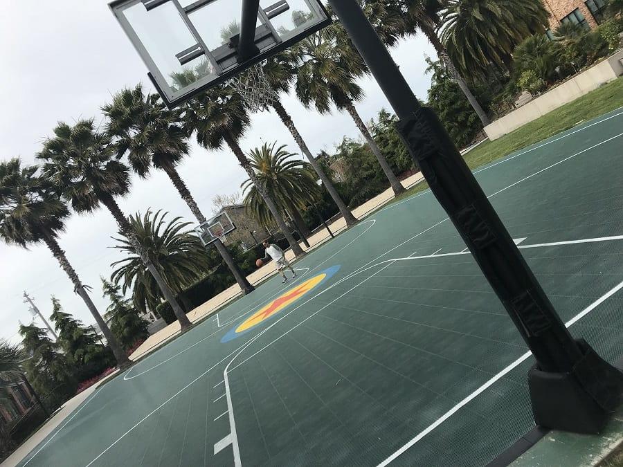 Pixar animation studios basketball court