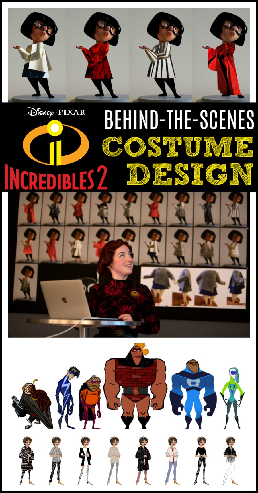 Incredibles 2 behind the scenes costumes