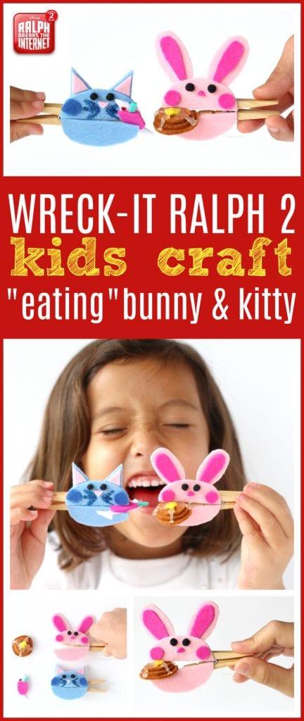 Wreck it Ralph craft for kids
