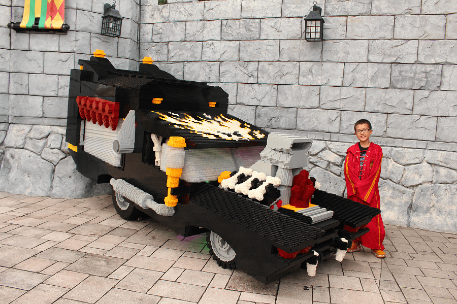 Brick or treat photo ops