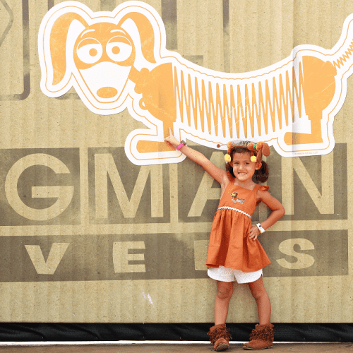 Easy slinky dog dress DIY