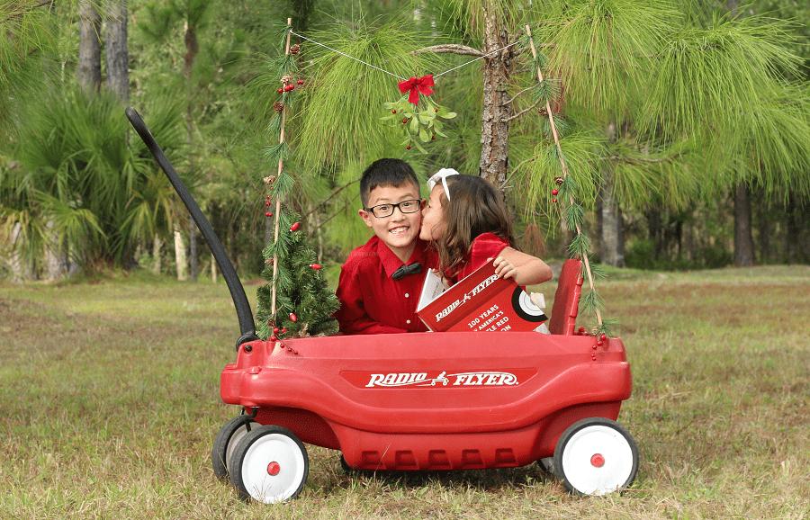 DIY Christmas kissing booth