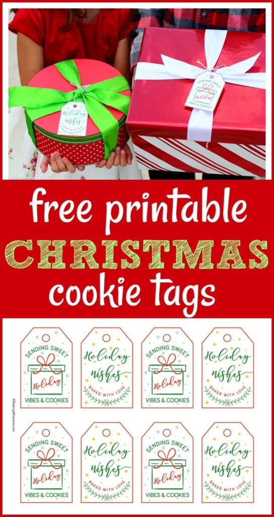 Free printable Christmas cookie tags