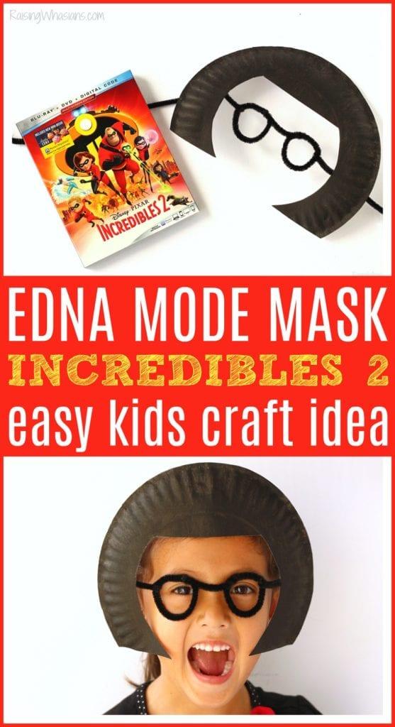 Incredibles 2 kids craft idea