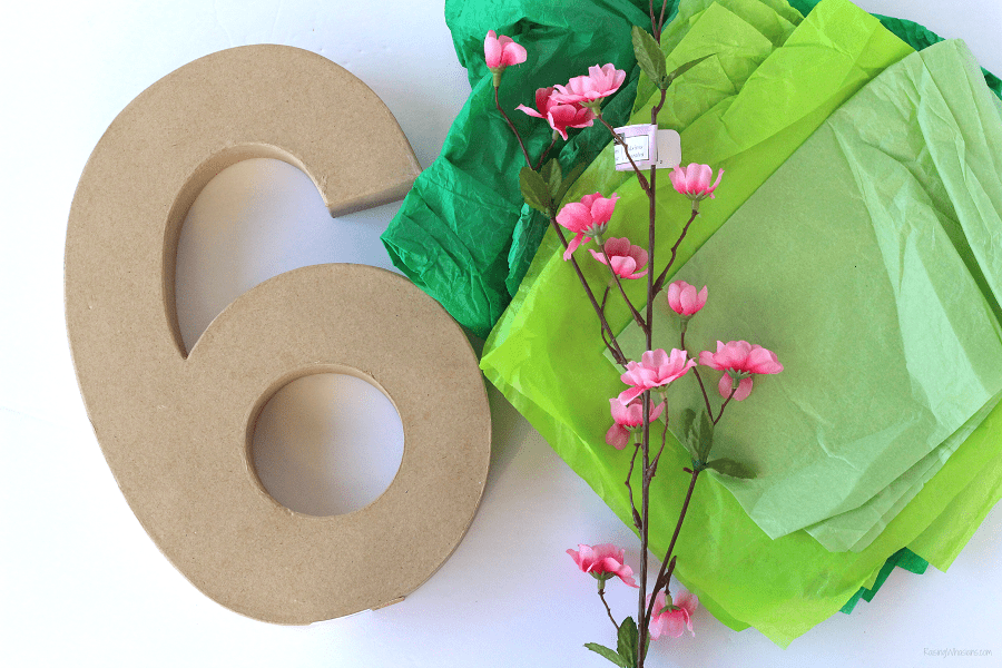 How to tissue paper numbers