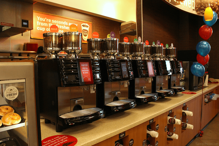 RaceTrac bean-to-cup coffee machines
