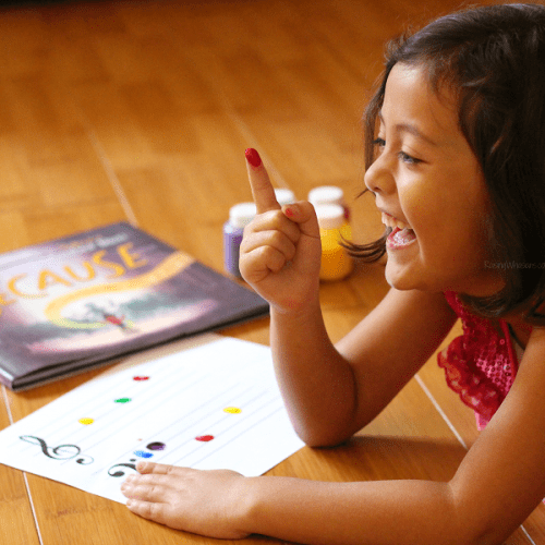 Easy music notes craft for kids