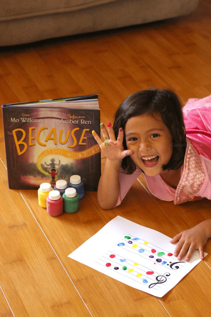 Fingerpaint music notes