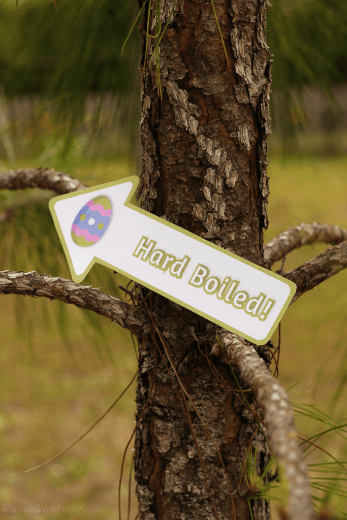 Free Easter egg hunt signs