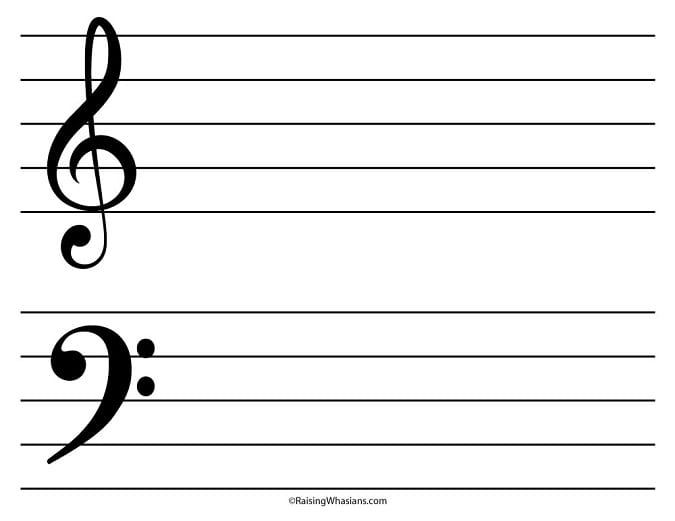 Free printable music notes craft