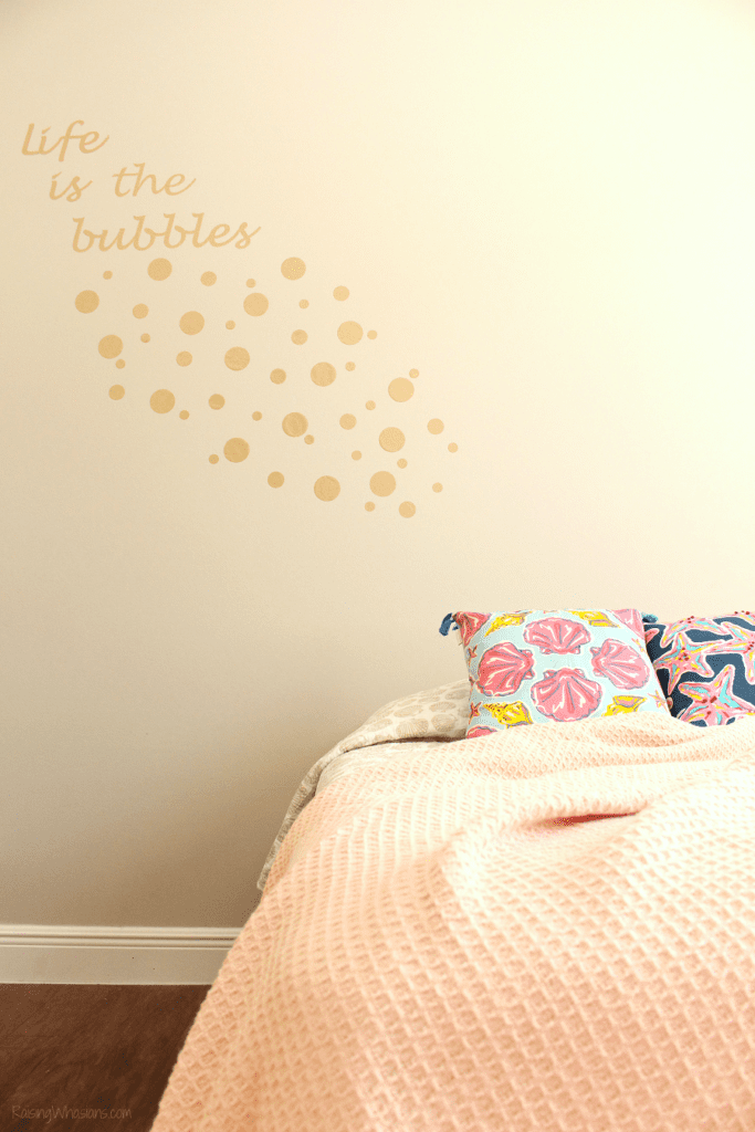 Life is the bubbles wall decal diy