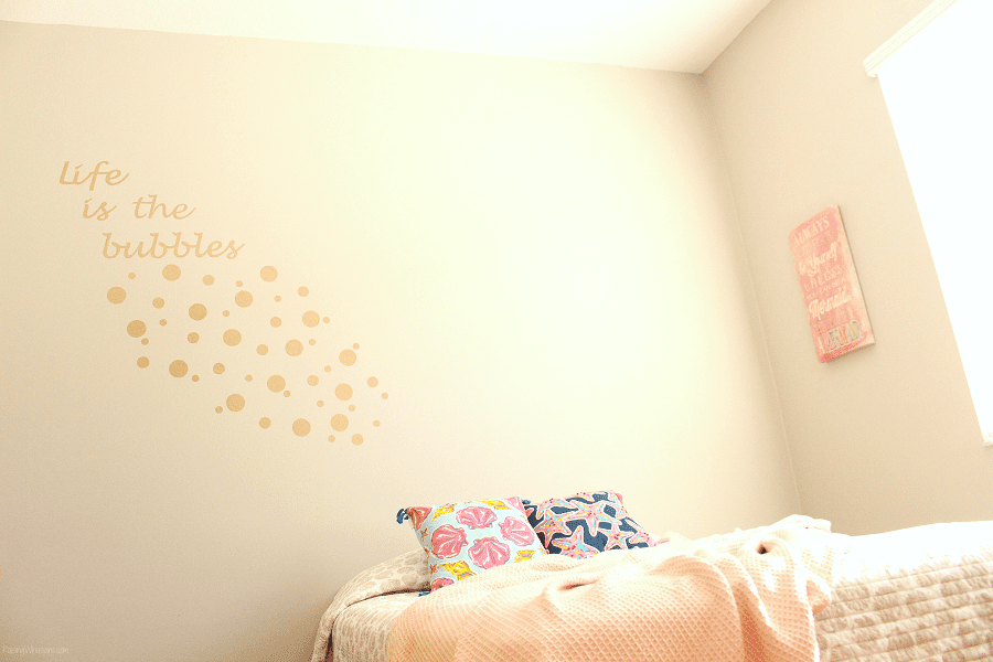 Little mermaid wall decal diy