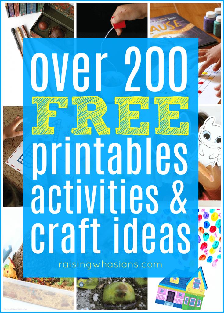 Free kids printables craft ideas
