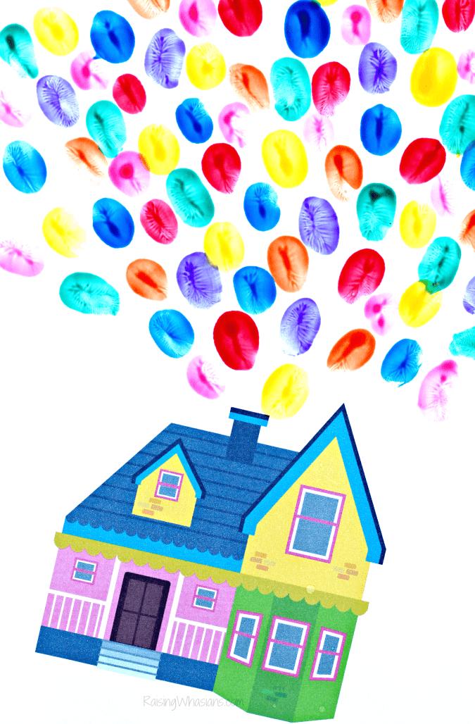 Free Pixar up printable house