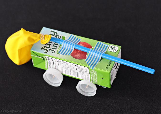 Juice box car experiment