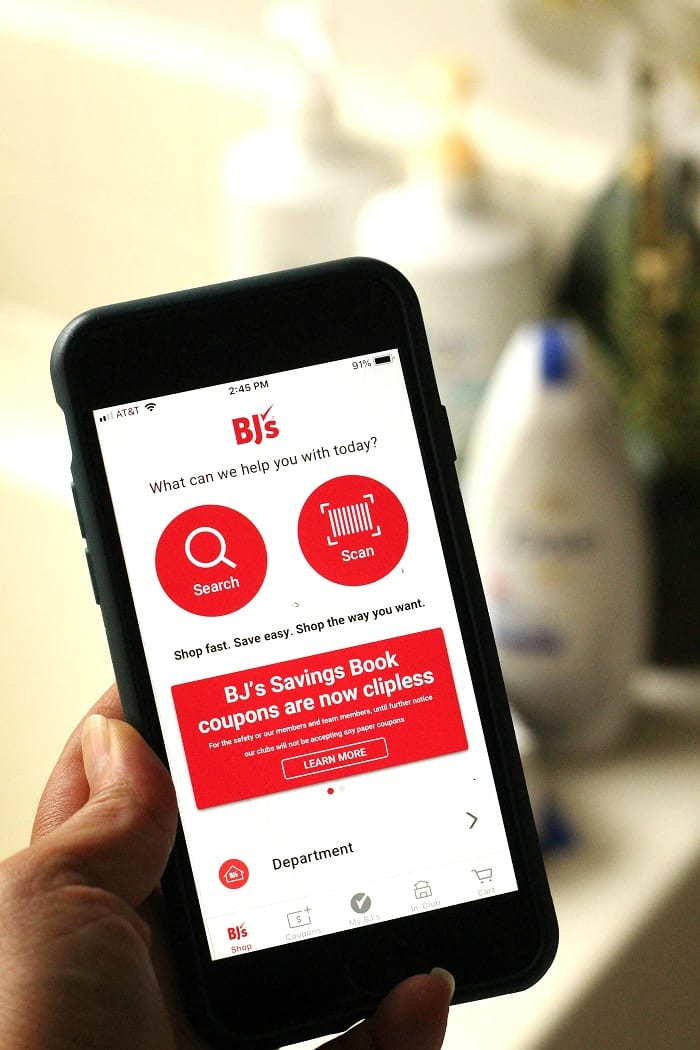 BJs wholesale app savings