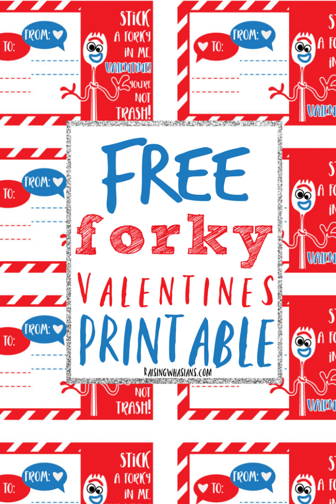Free Forky valentines