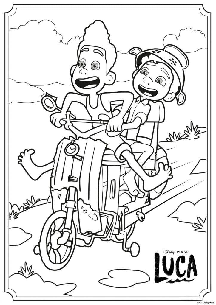 Free Luca coloring