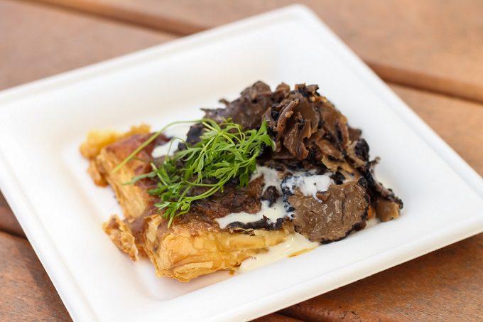 Rotunda bistro wild mushroom and truffle tart