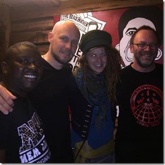 From Left Rais, Kristian Svenson, Elona, David Rovics