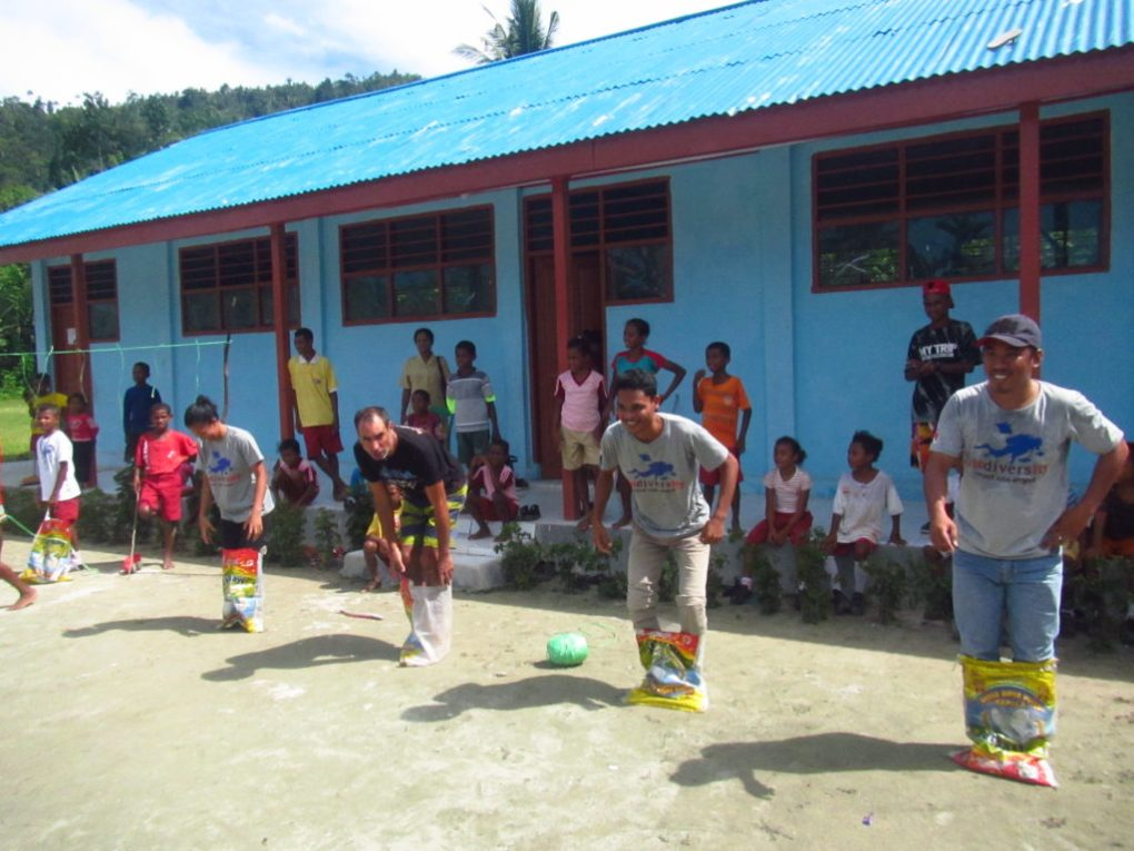 Community Program outdoor games with biodiversity eco resort