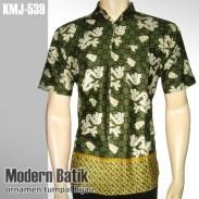 Kemeja Batik Modern | Ornamen Tumpal HIJAU | KMJ-539 - www.tokopedia.com/rajapadmibatik