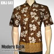 Kemeja Batik Modern | Ornamen Tumpal COKLAT| KMJ-541 - www.tokopedia.com/rajapadmibatik