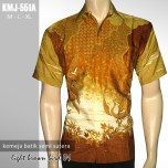 KMJ-551A Kemeja Batik Modern Semi Sutera - CINNAMON BIRD 01
