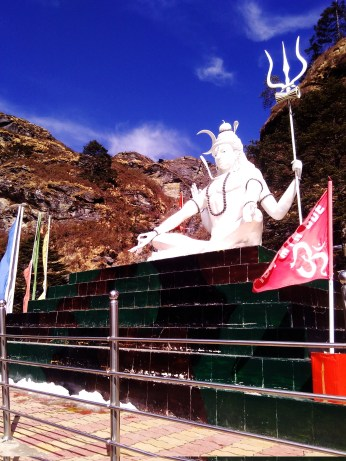 Siva statue at the highest of altitudes. @13000ft.