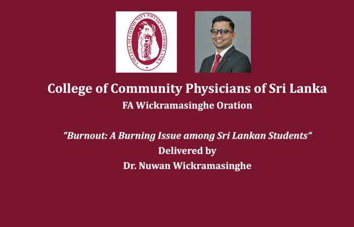 Dr.Nuwan Darshana Wickramasinghe to deliver the F A Wickramasinghe Oration