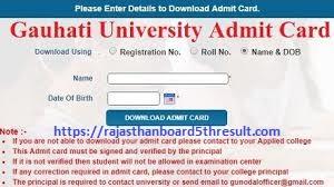 Gauhati University Admit Card 2021