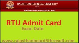 RTU Admit Card 2020